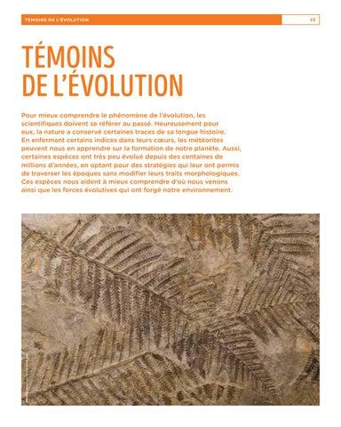 Page 22 of Témoins de l'évolution