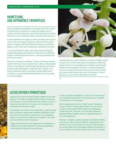 Page 9 of L'adaptation, le moteur de la vie