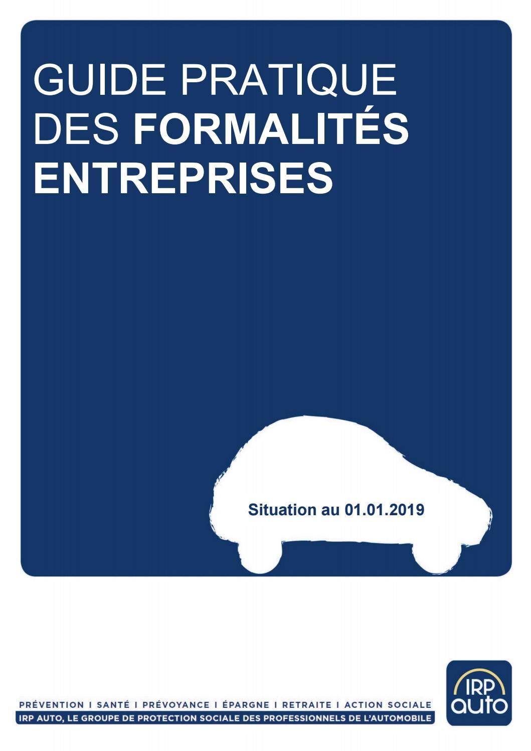 Guide Pratique Des Formalites Entreprises Edition 2019 Irent004 By