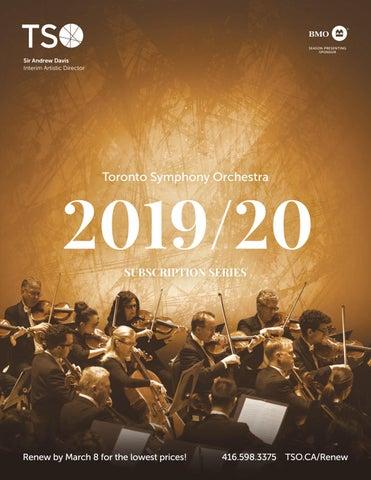 TSO 2019/20 Subscription Series by Toronto Symphony