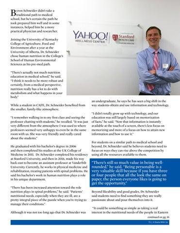 Page 15 of Alumni Focus - Byron Schneider