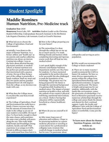 Page 17 of Student Spotlight - Maddie Romines