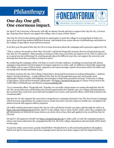 Page 18 of Philanthropy - One Day for UK