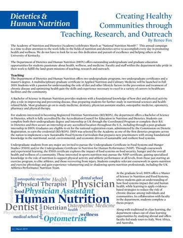 Page 6 of Department Spotlight - Dietetics & Human Nutrition