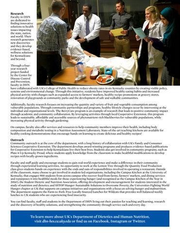 Page 7 of Department Spotlight - Dietetics & Human Nutrition