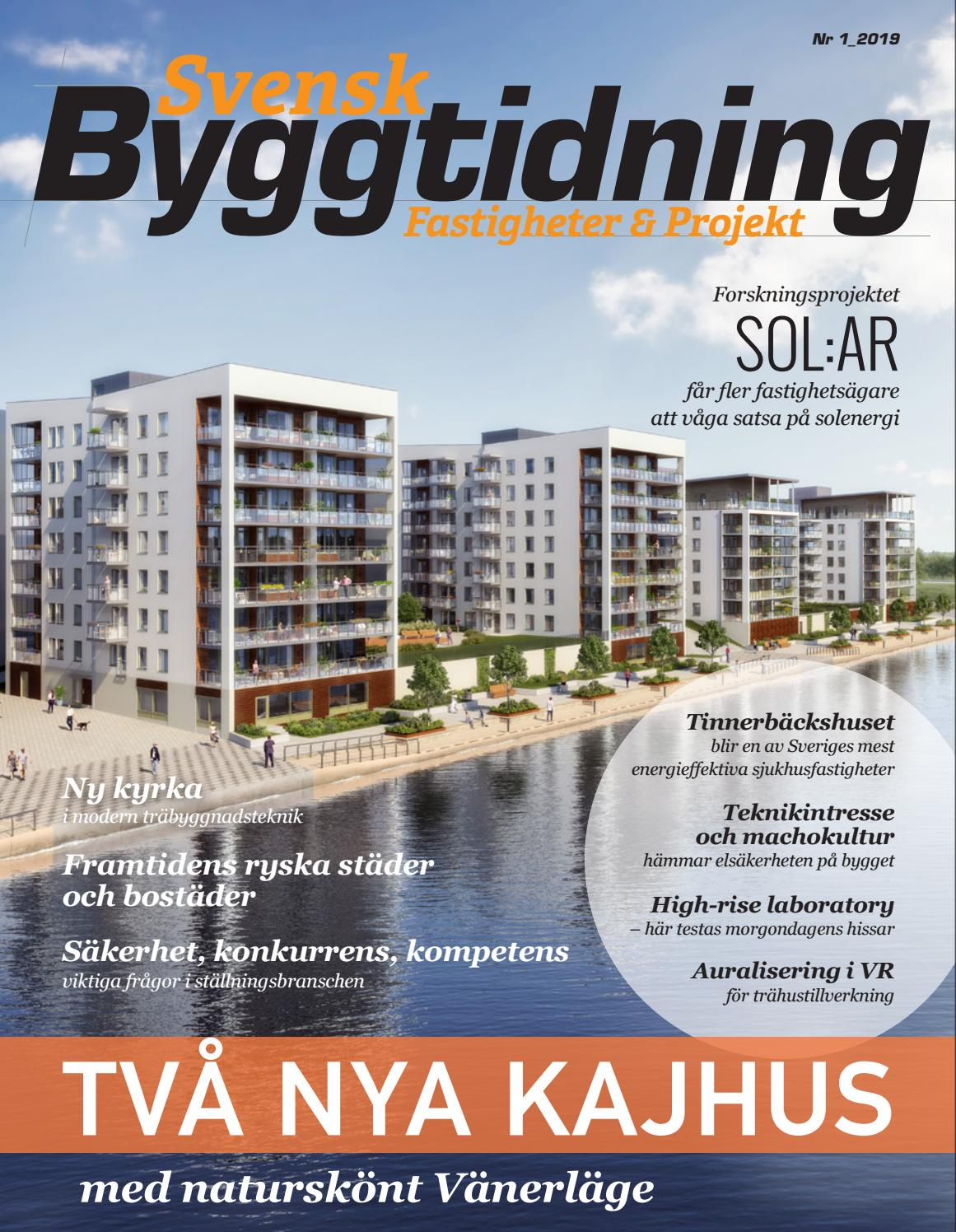 Svensk Byggtidning 1 2019 by Stordåhd Kommunikation AB - issuu 49e175e8b18b9