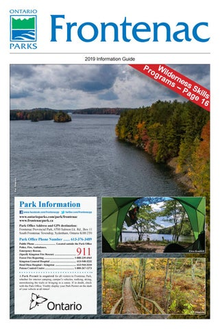 Frontenac Provincial Park 2019 Information Guide by Willow