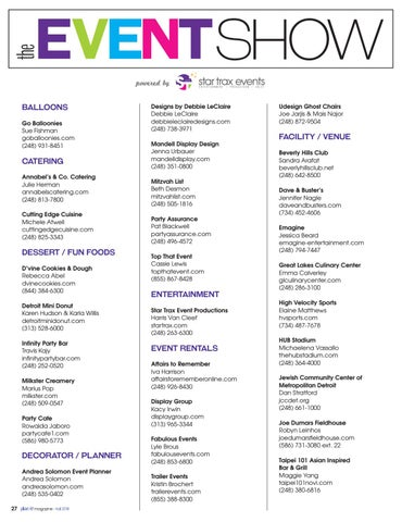 Page 28 of The Event Show 2018 Exhibitors