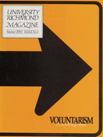 University of Richmond Magazine Summer 1981
