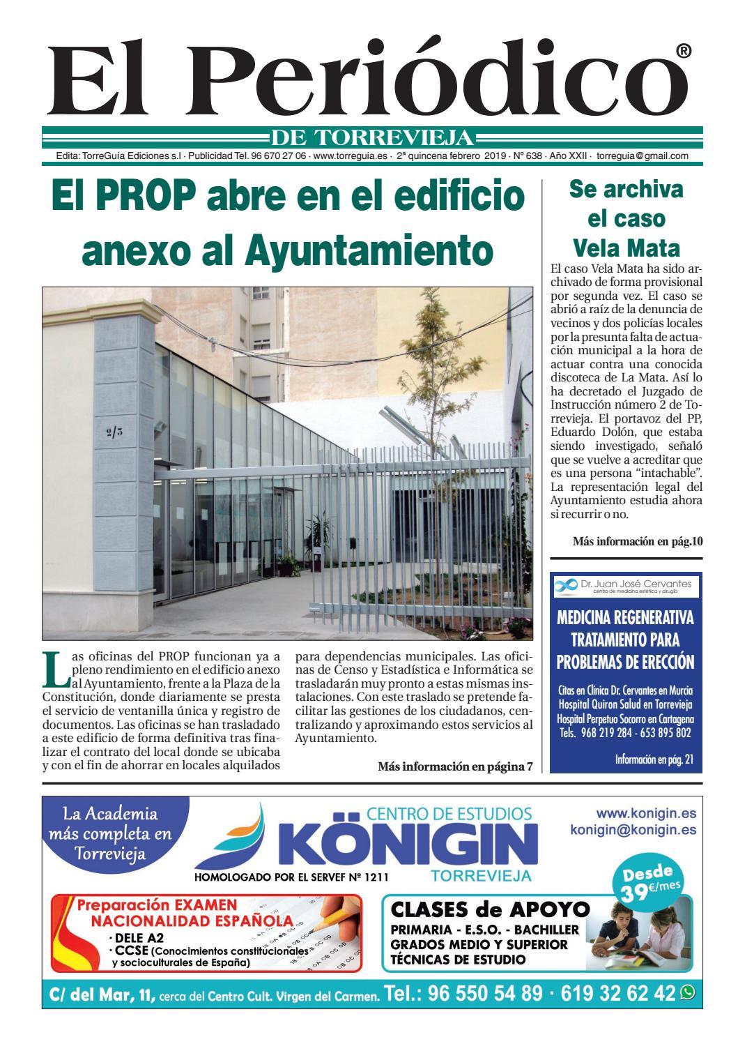 El Periódico De Torrevieja Nº638 By Torreguía Ediciones Issuu