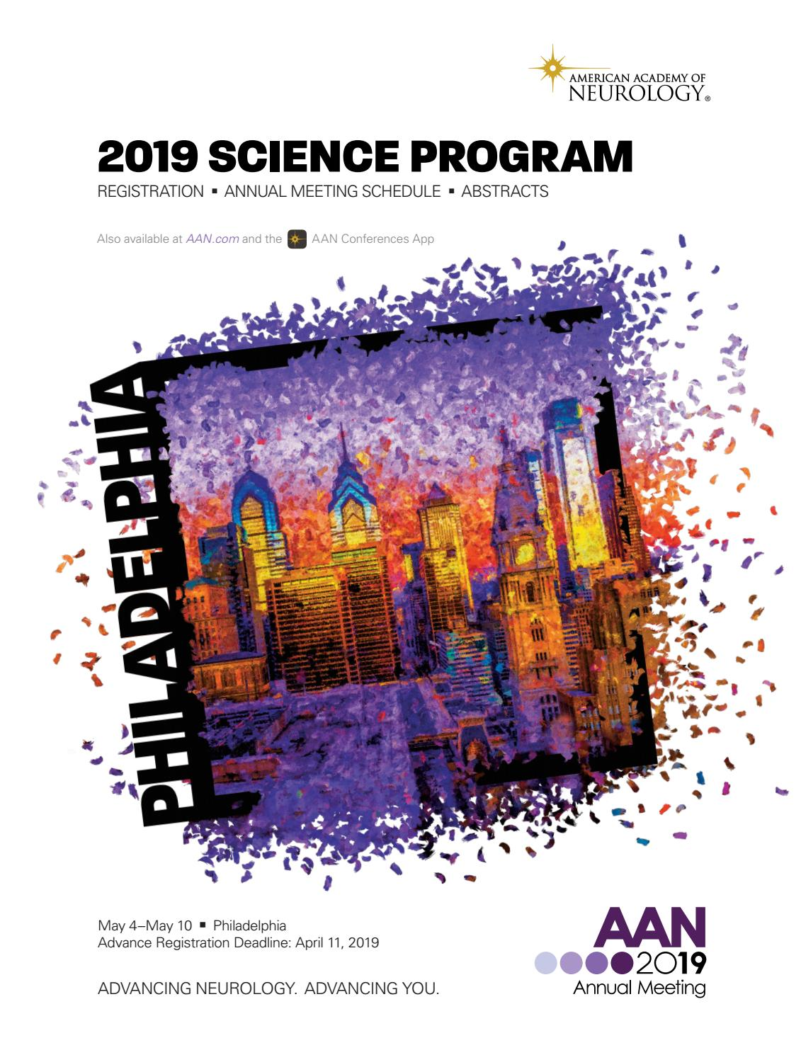 2019 Science Program by American Academy of Neurology - issuu