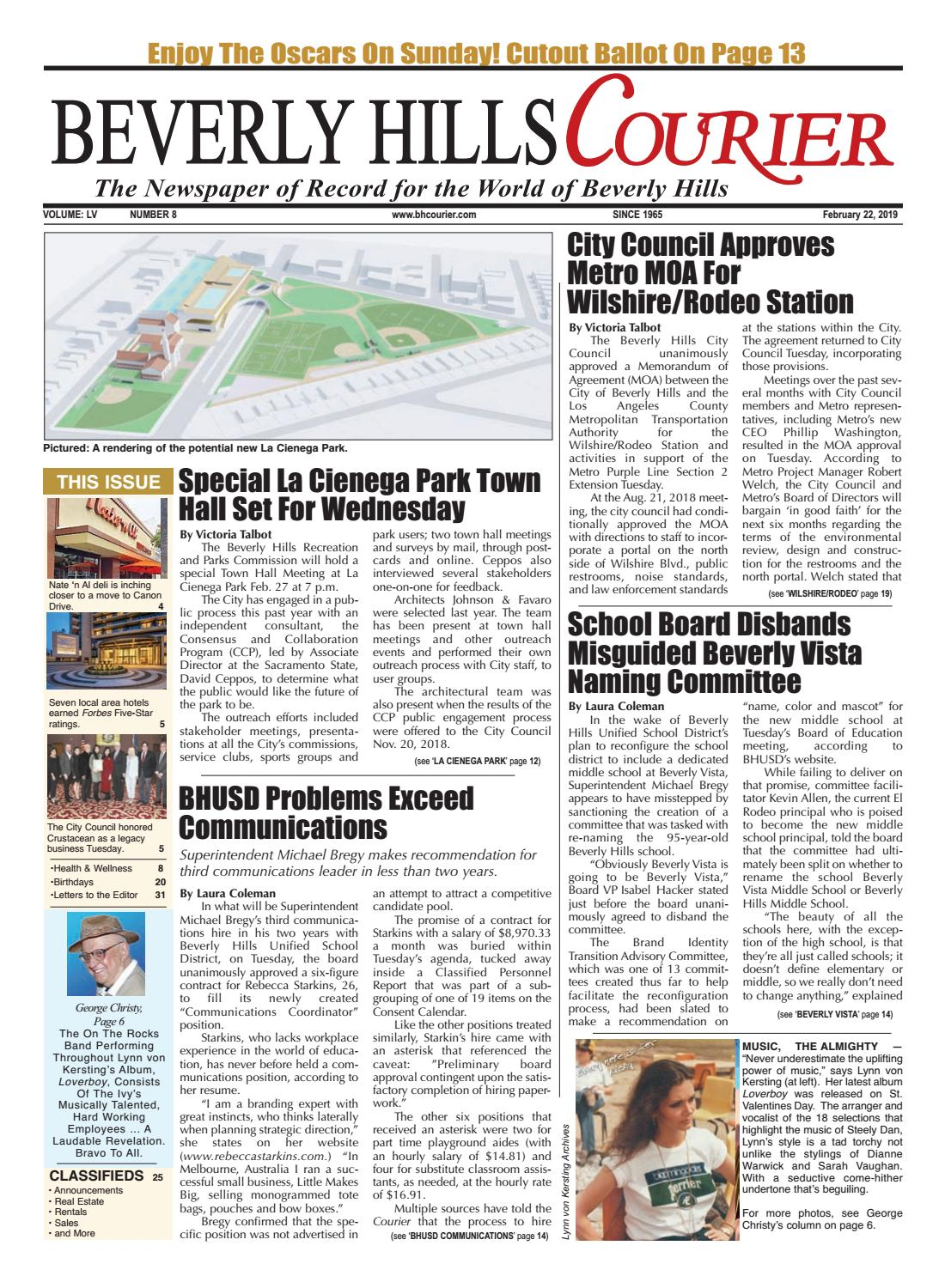 BHCourier E-edition 022219 by The Beverly Hills Courier - issuu