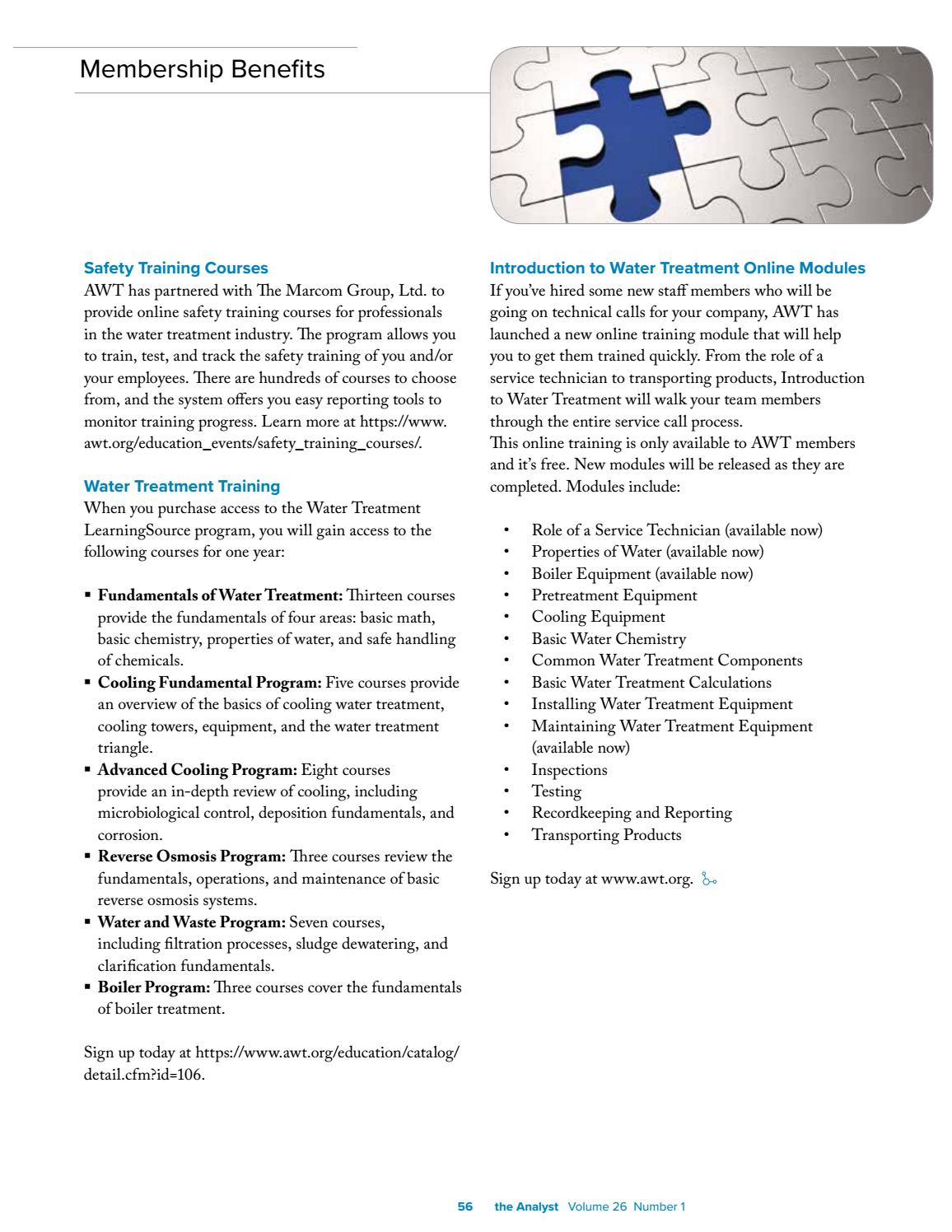2019 Winter Analyst by Association of Water Technologies - issuu