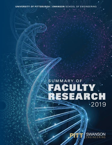 2019 Swanson School Summary of Faculty Research by PITT