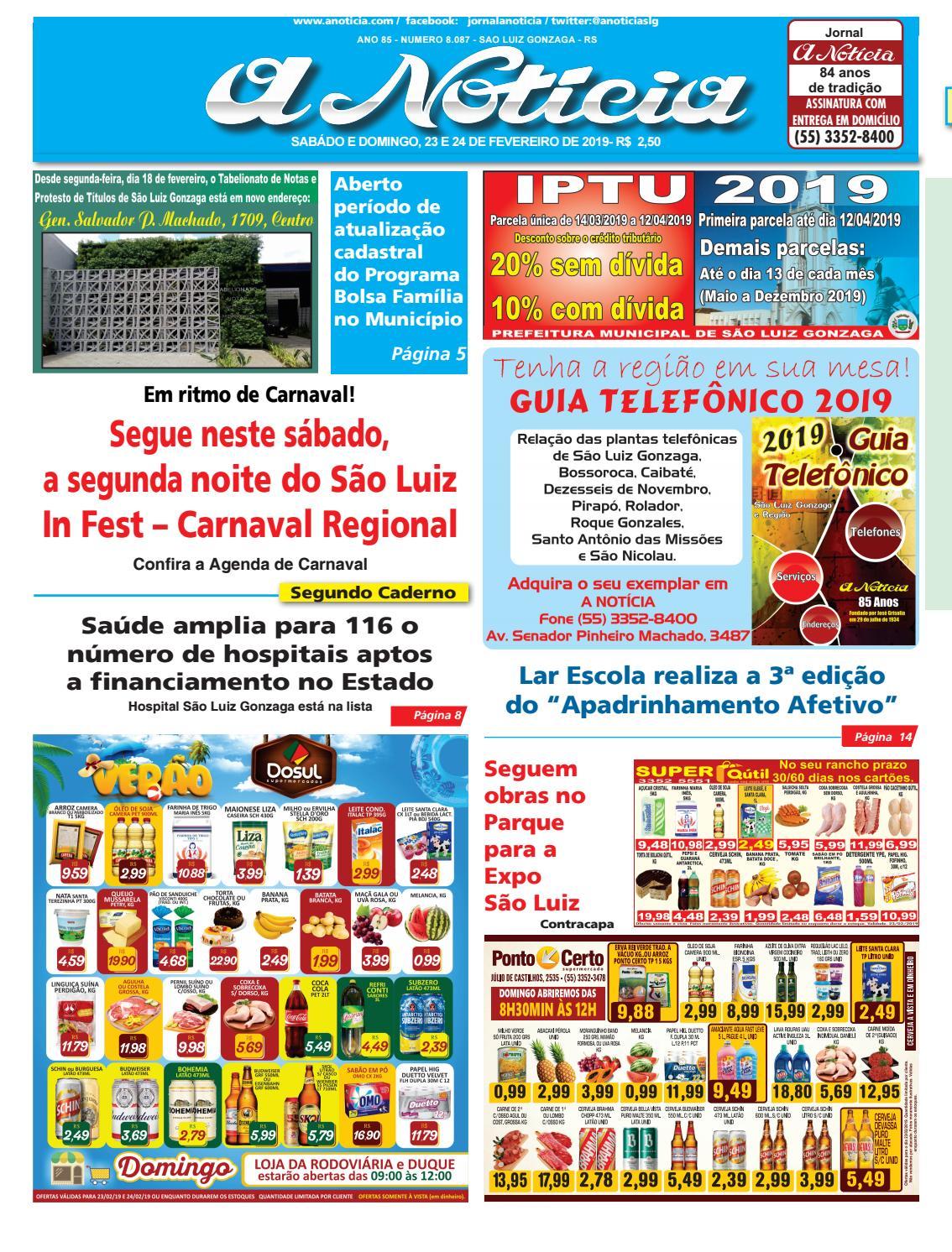 2c9fd7470 Edição dia 23 e 24 de fevereiro de 2019 by Jornal A Notícia - issuu