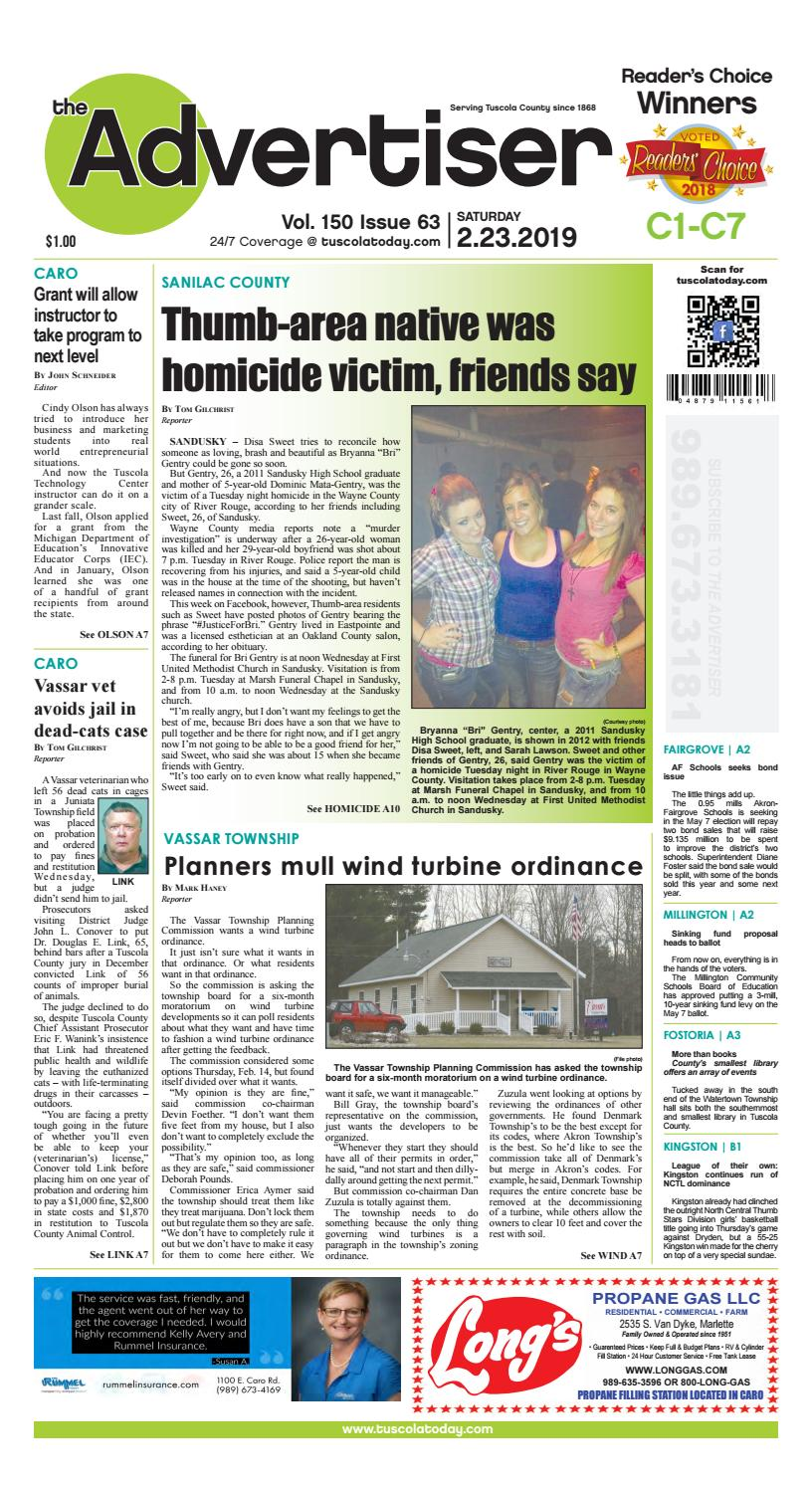 TCA 2-23-19 by Tuscola County Advertiser - issuu