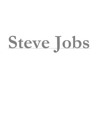 Of jobs isteve pdf book the