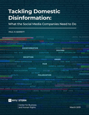 Tackling Domestic Disinformation: What the Social Media