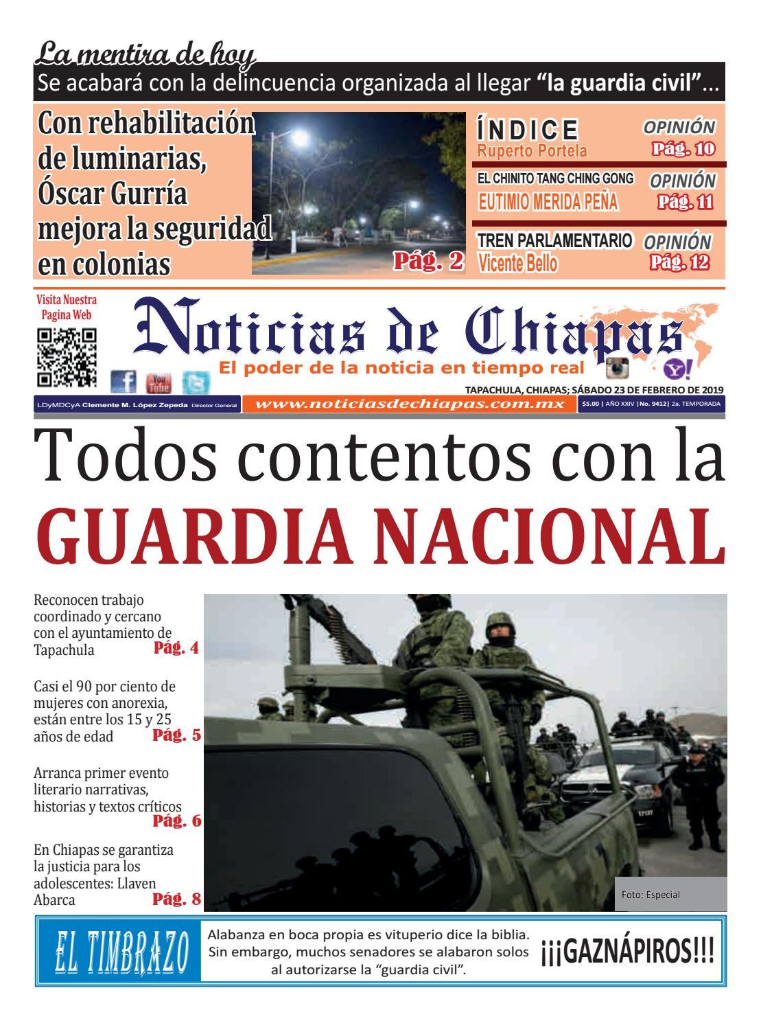 da0abbb712 PERIÓDICO NOTICIAS DE CHIAPAS