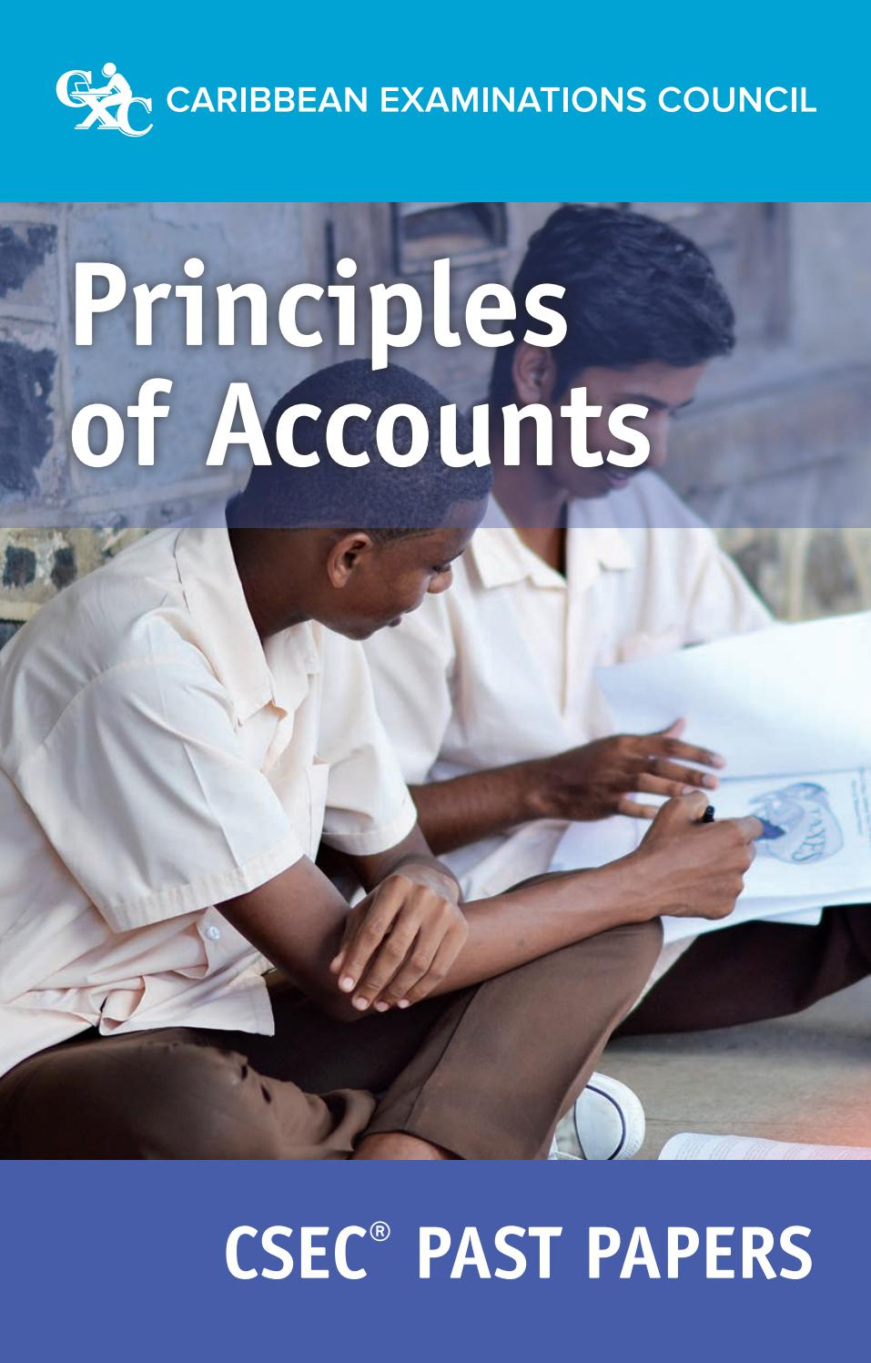 Principles of Accounts Past Papers by Shelando Johnson - issuu