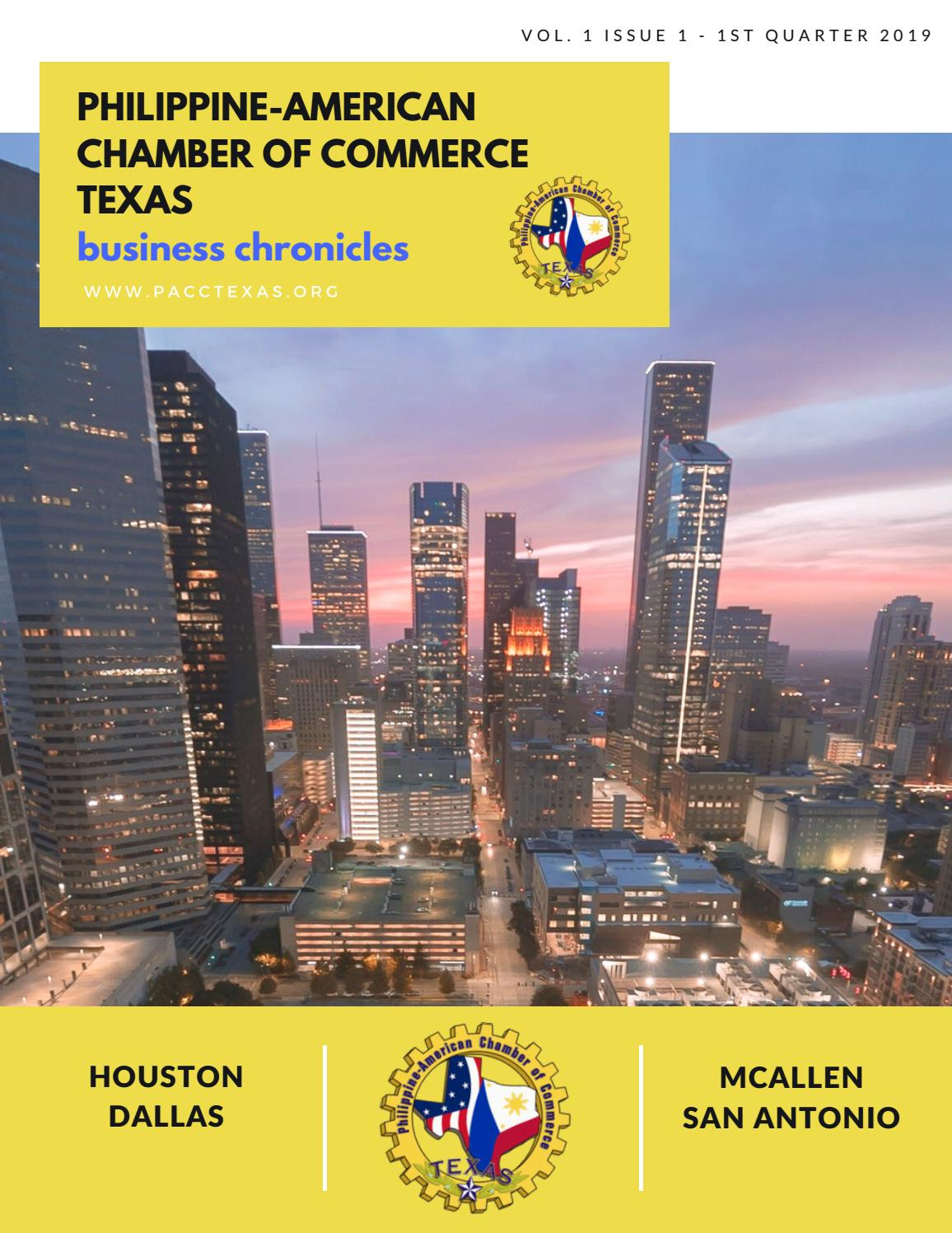 PACC TX BUSINESS CHRONICLES NEWSLETTER VOL 1 ISS 1 1Q19 by