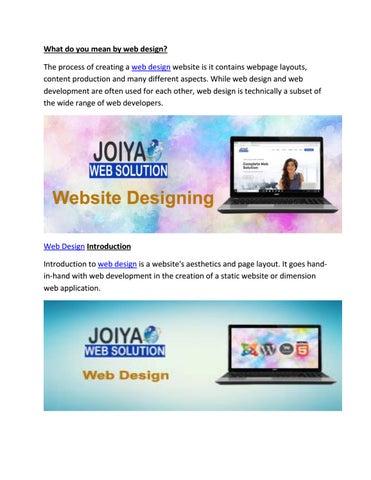 Web Design What Is Web Design By Joiya Web Solution Issuu