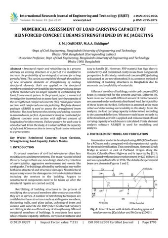 IRJET- Numerical Assessment of Load Carrying Capacity of Reinforced