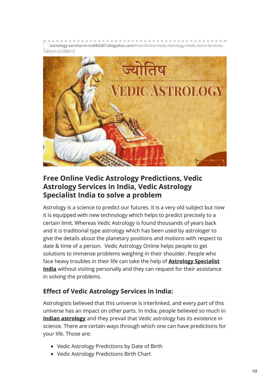 Vedic astrology websites