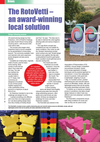 Page 34 of The RotoVetti - an award-winning local solution