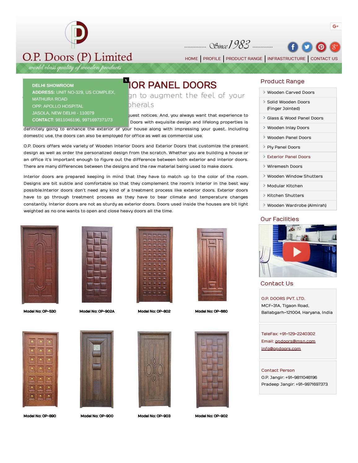 Interior And Exterior Doors Interior Doors Manufacturers