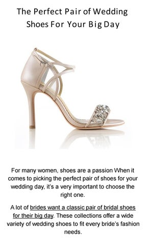 The Perfect Pair Of Wedding Shoes For Your Big Day By Sydney Ideas Issuu