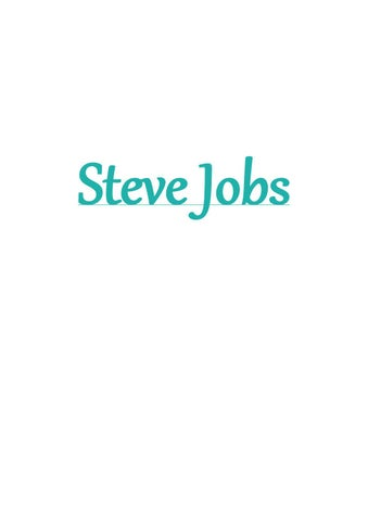 Steve Jobs Multiple Choice Questions by chrisrcufs - issuu
