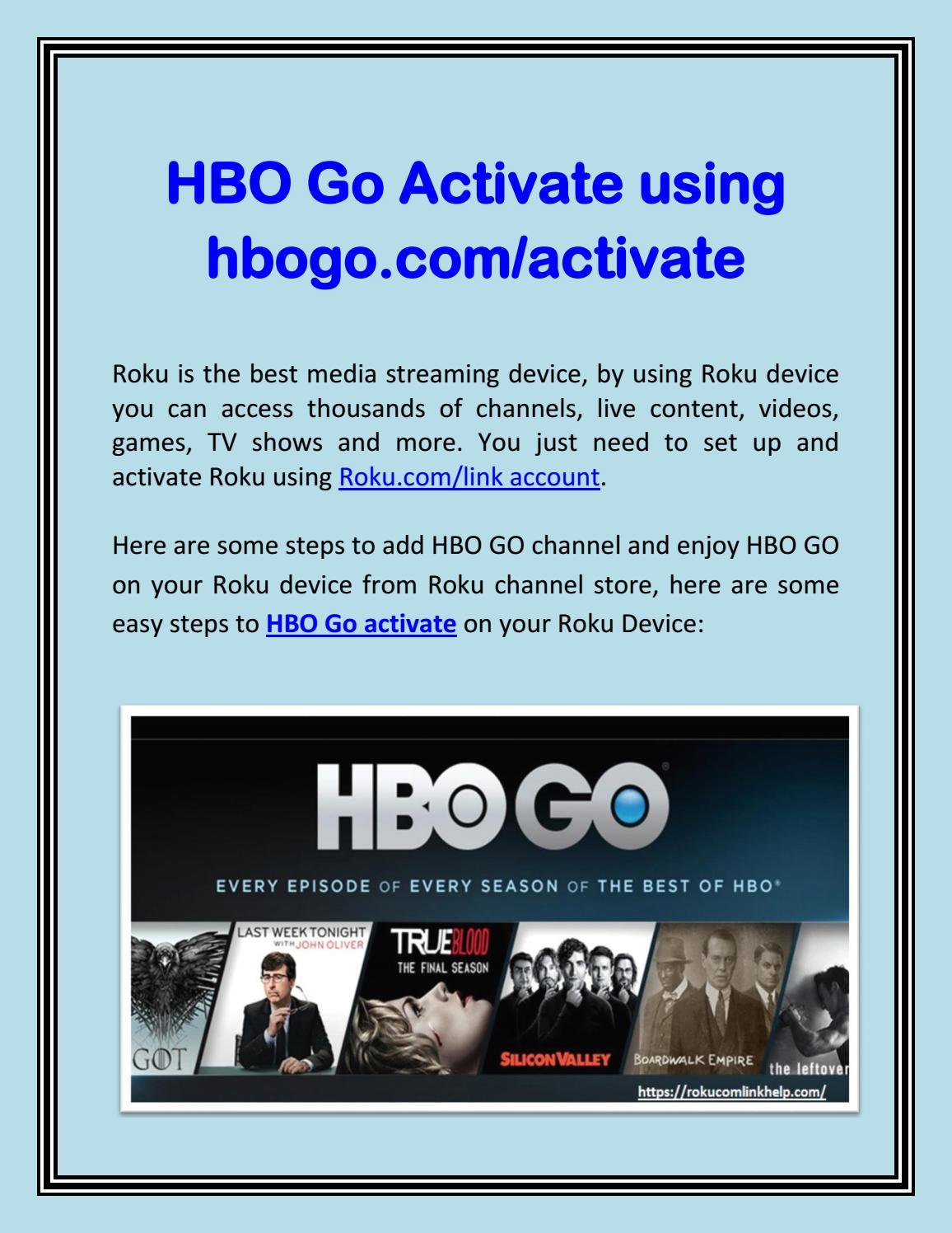 HBO Go activating | HBOgo com/acttivate by Lisa Heden - issuu
