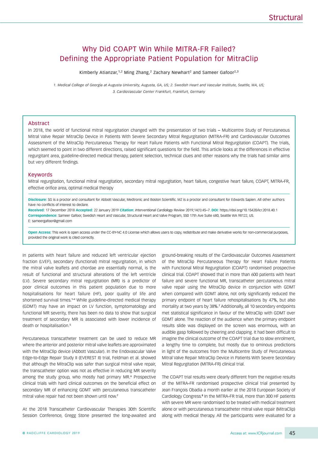 ICR 14 1 by Radcliffe Cardiology - issuu