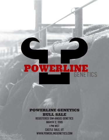 Page 1 of Powerline Genetics Utah Sale Catalog