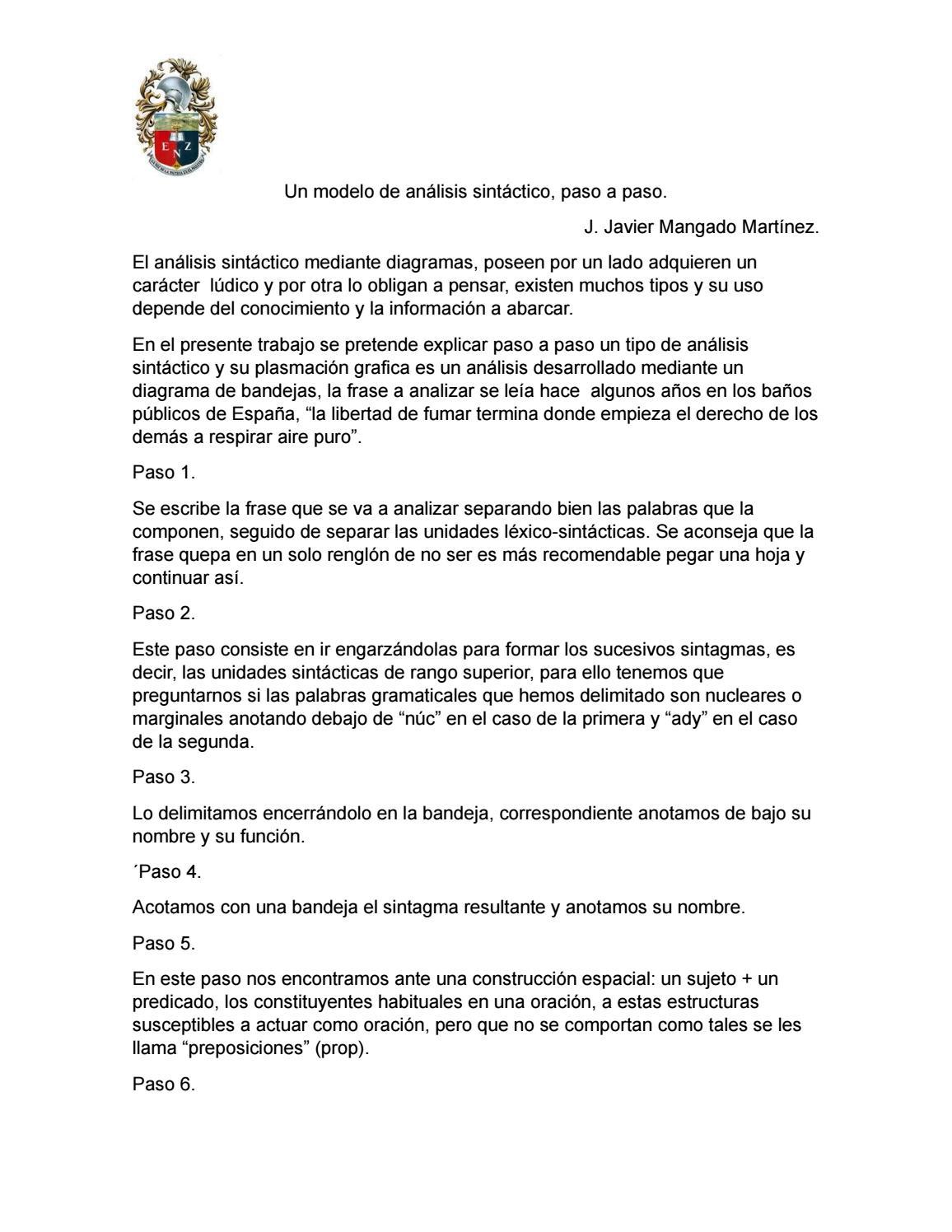 Un Modelo De Analisis Sintactico By Montsse Perez Issuu