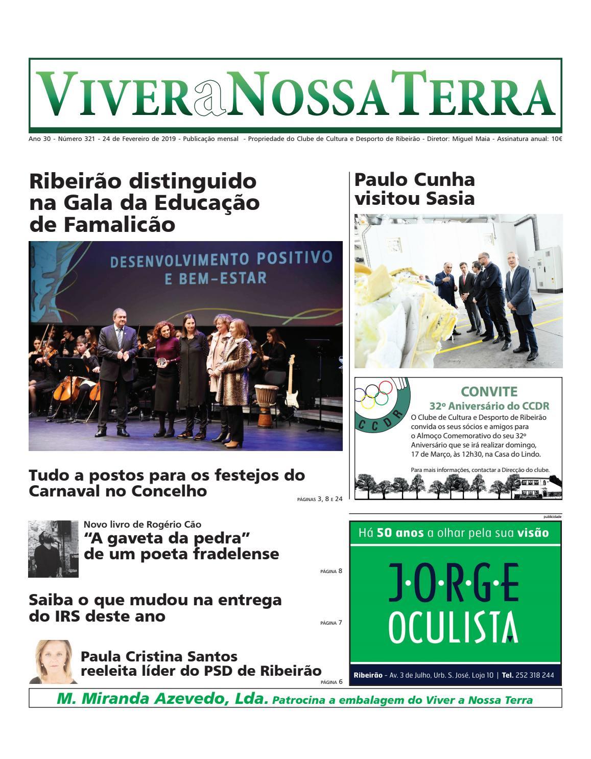 cfe9c223c3477 Viver a Nossa Terra - Fevereiro 2019 by Jornal Viver a Nossa Terra - issuu