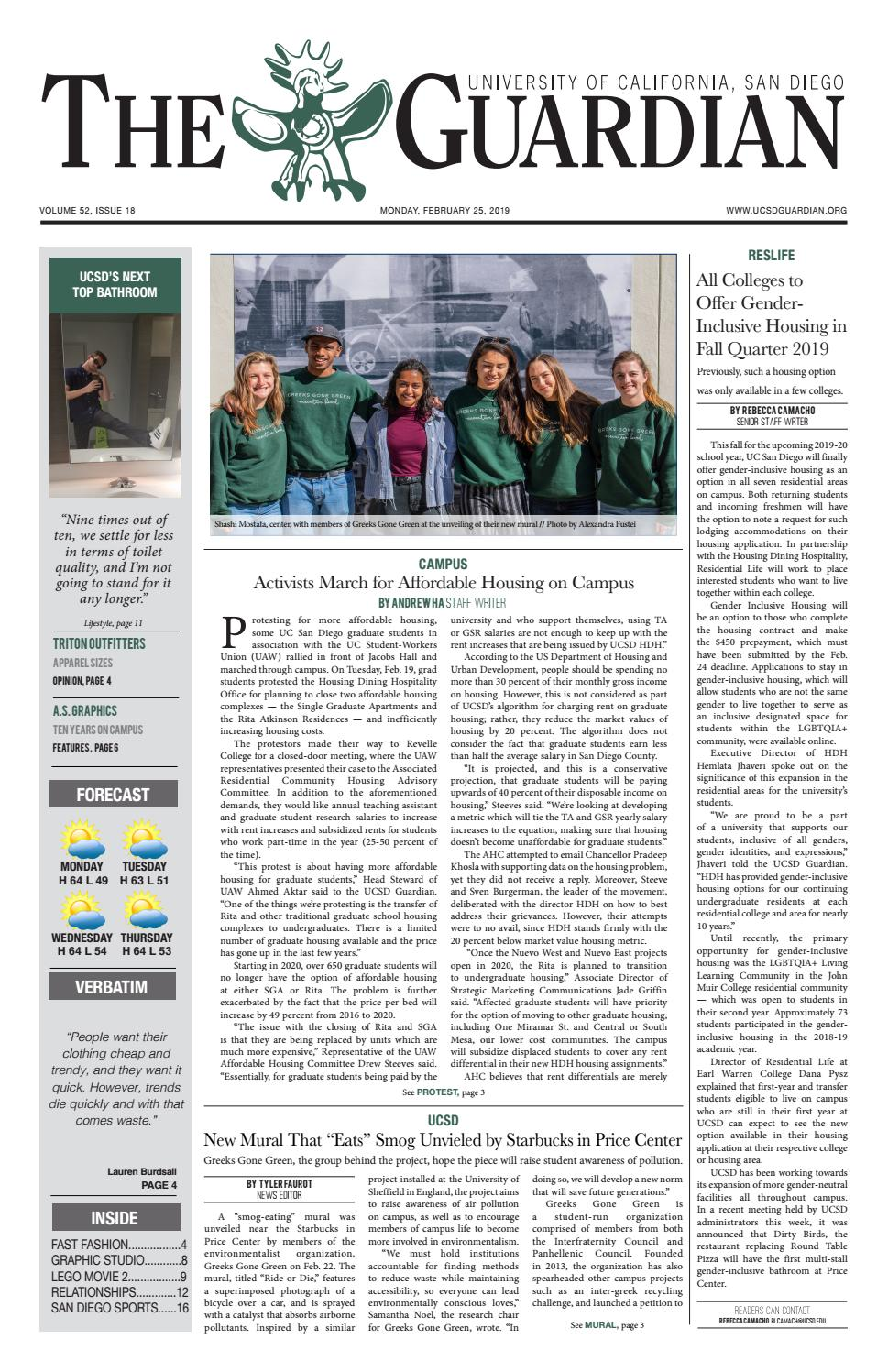 The UCSD Guardian 2/25/2019 by UCSD Guardian - issuu
