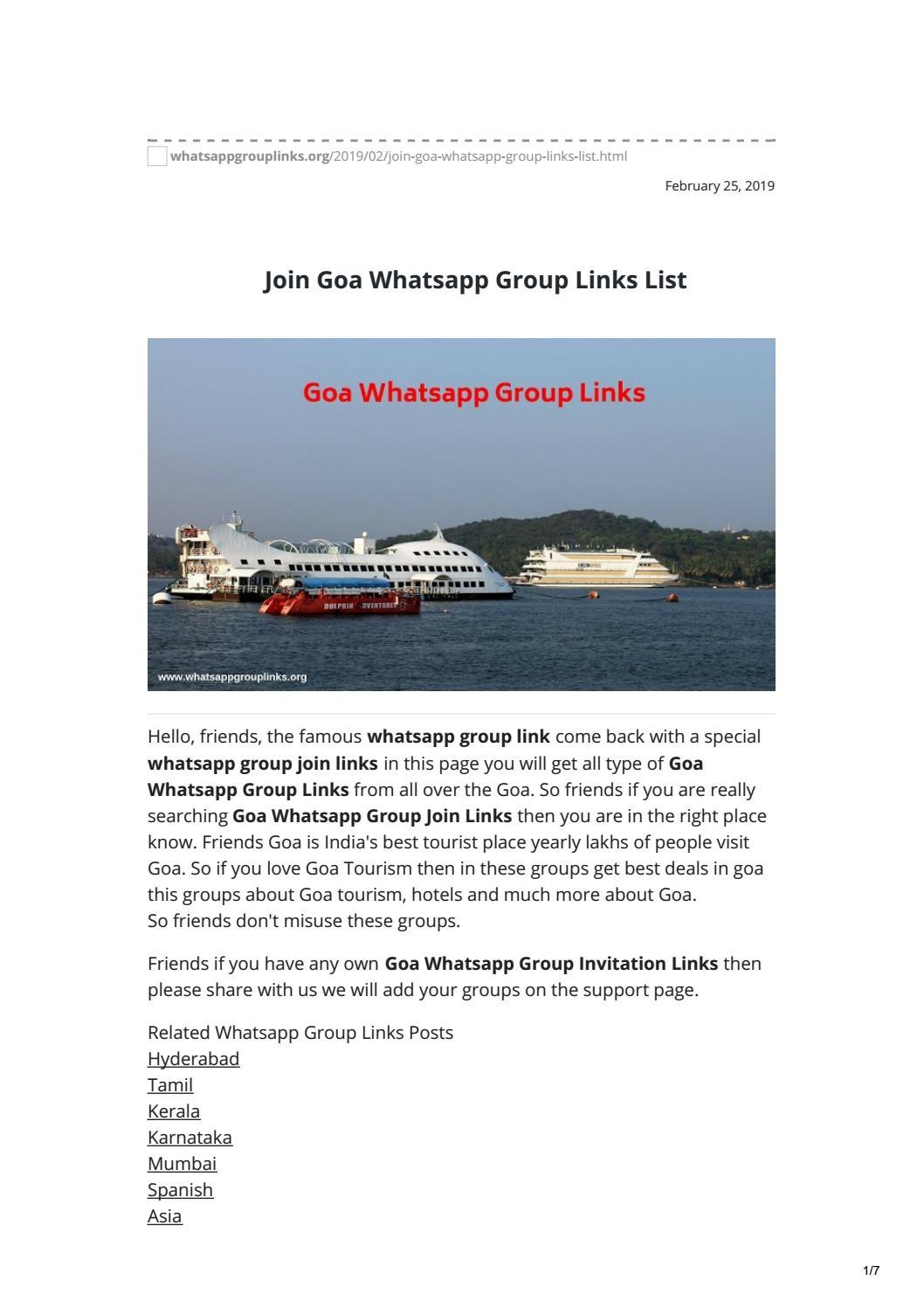 Join Goa Whatsapp Group Links List by whatsapp group links - issuu