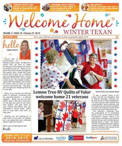 fce2c92e465eaf Welcome Home Winter Texan : Vol 4 Issue 19 : February 27, 2019 by ...