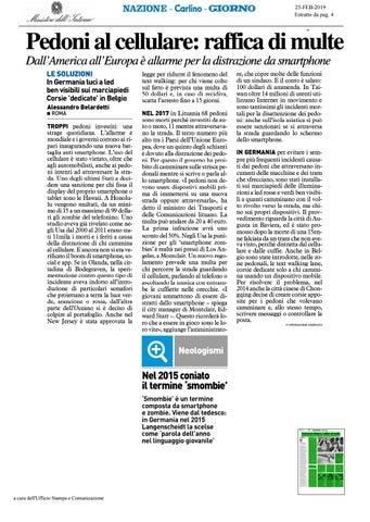 Pedoni Al Cellulare Raffica Di Multe By Laboratorio Polizia