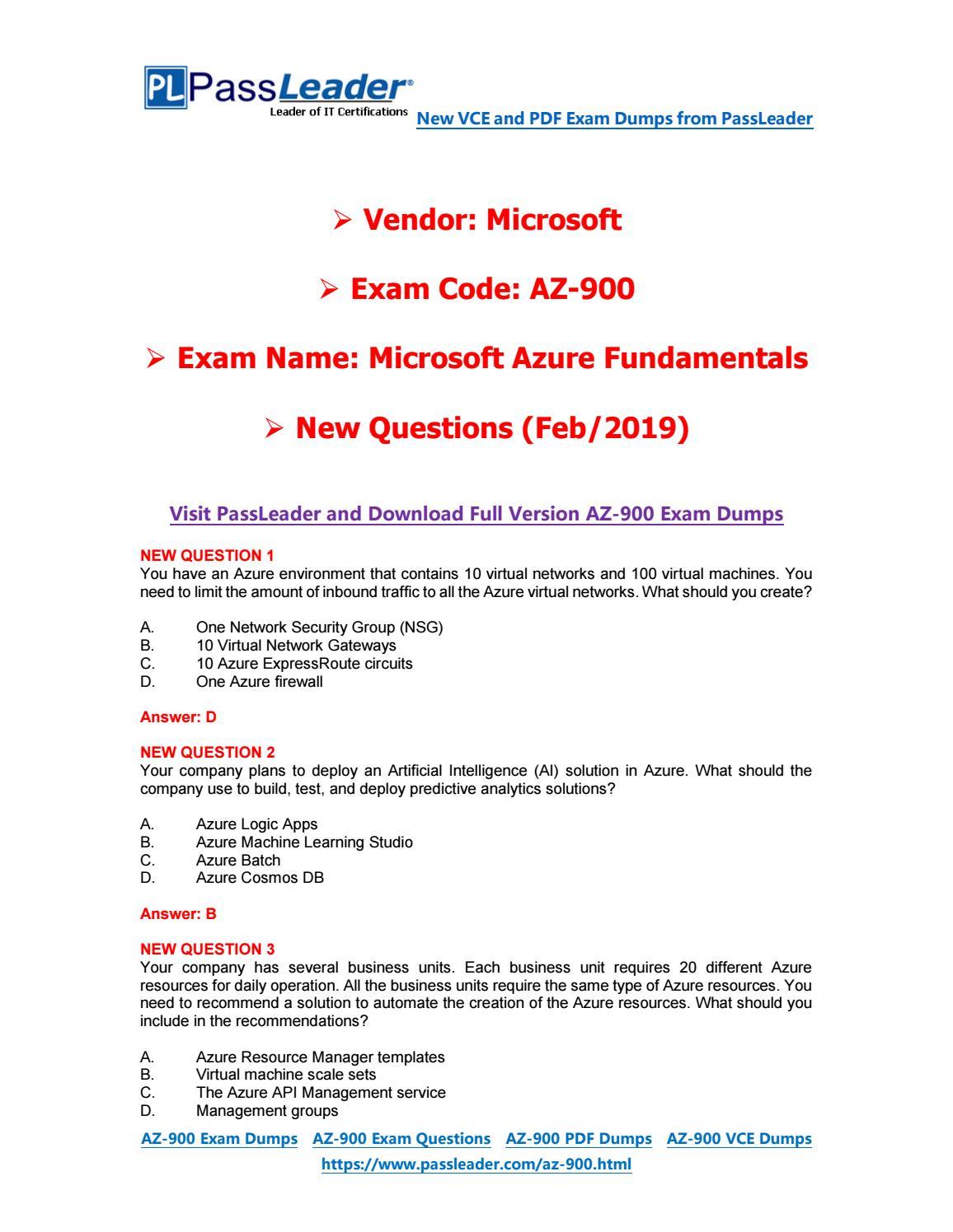 az 900 exam dumps pdf free