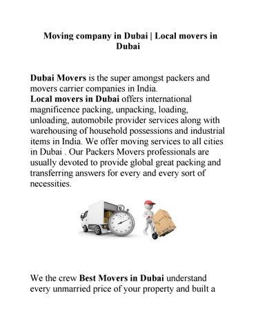 Storage company in Dubai by dubai movers - issuu