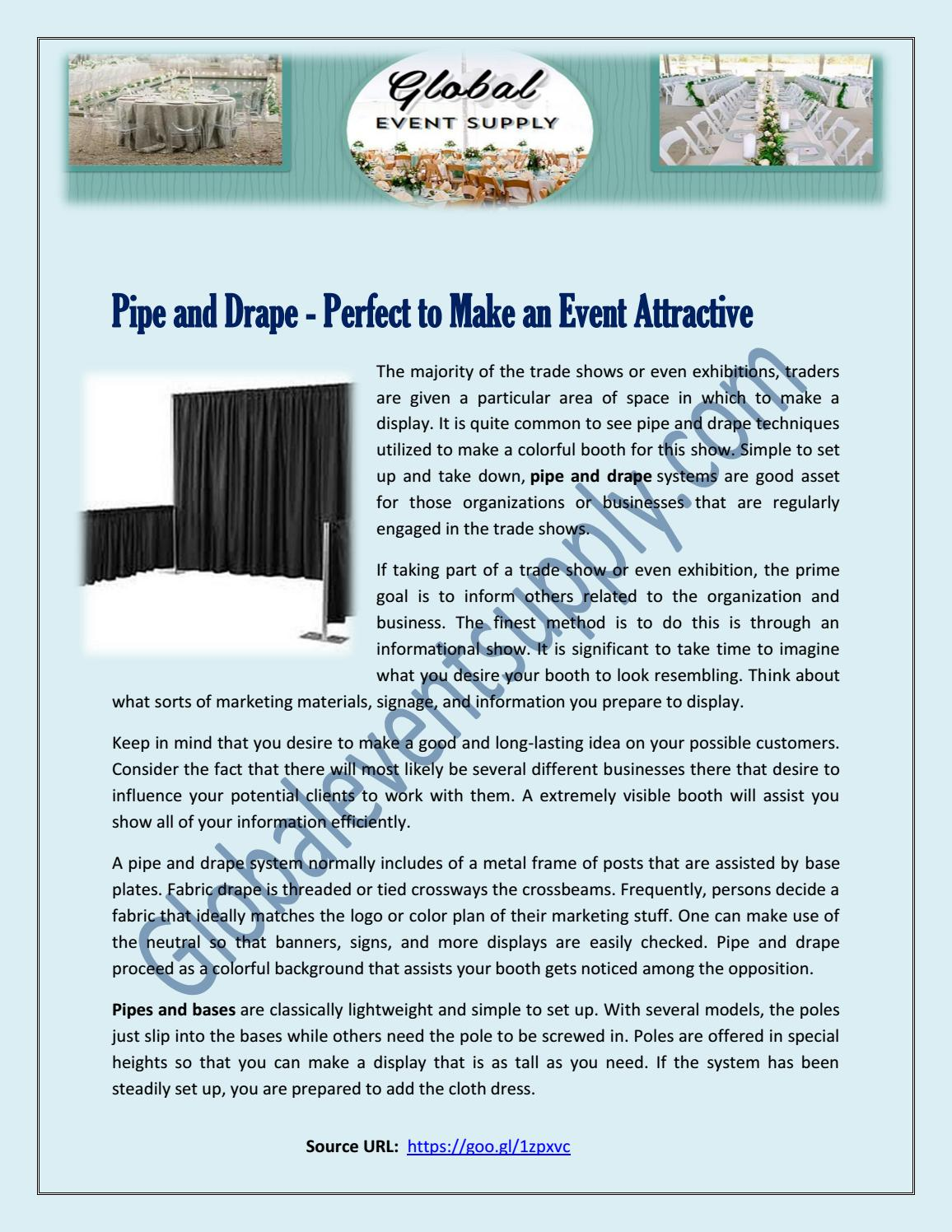 Pipe and Drape - Perfect to Make an Event Attractive by