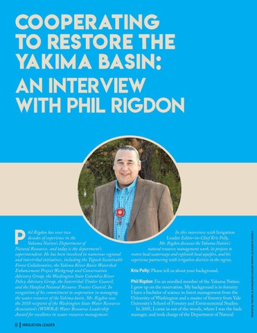 Page 8 of Cooperating to Restore the Yakima Basin: An Interview with Phil Rigdon