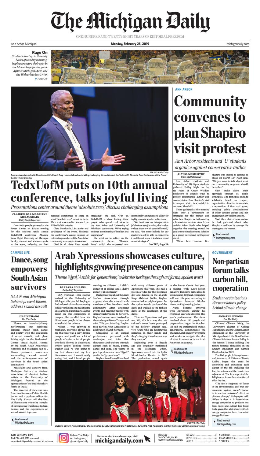 2019-02-25 by The Michigan Daily - issuu