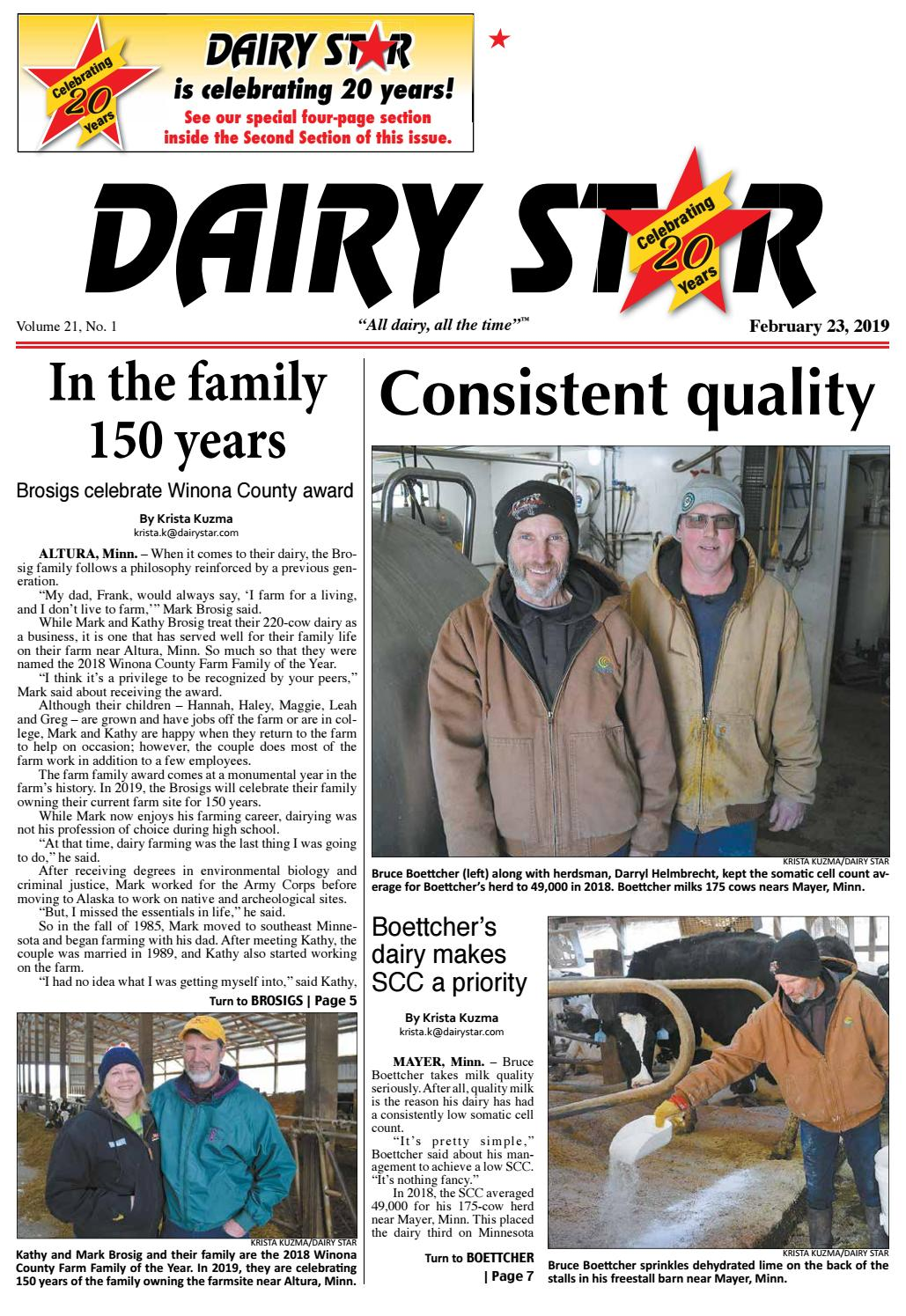 Dairy Star February 23, 2019 - Zone 1-1st section by Dairy