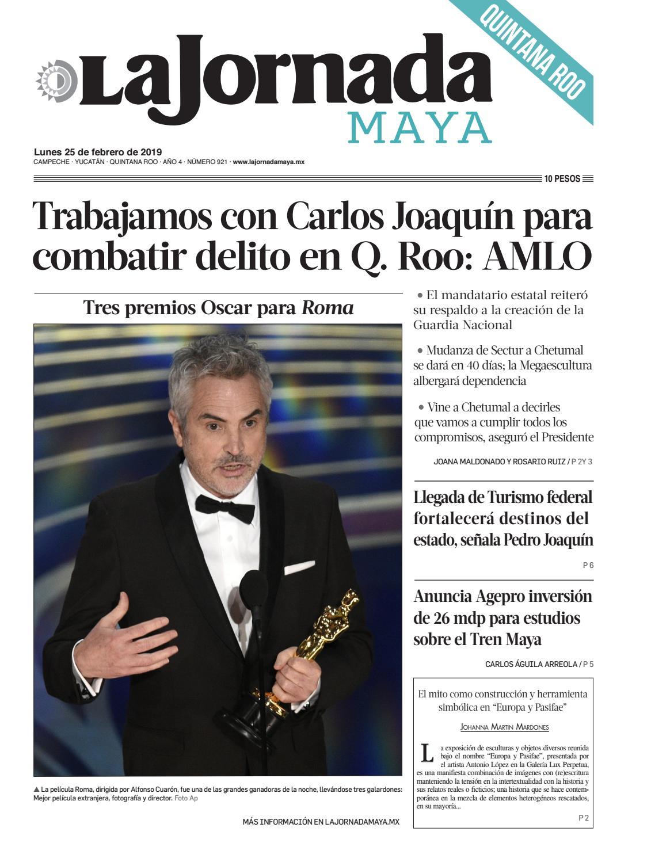 65ddd20f1 La Jornada Maya · lunes 25 de febrero de 2019 by La Jornada Maya - issuu