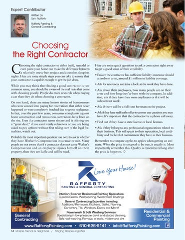 Page 14 of Expert Contributor: Choosing the Right Contractor