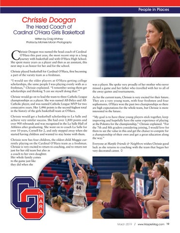 Page 19 of Chrissie Doogan: The New Head Coach of Cardinal O'Hara's Girls Basketball